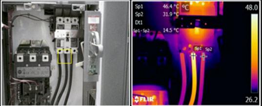 Real vs. Infrared Thermal Imaging
